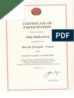 meet the principals forum certificate