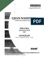 soal-soal UN geografi tahun 2011-2012