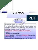 ELABORACIÓN DE UNA CRÍTICA.PAUTAS Y PARTES