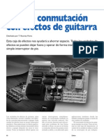 Caja de Conmutación Efectos Guitarra