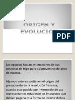Origen y Evolucion Del Presupuesto
