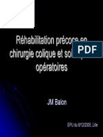 Rehabilitation Precoce Colique