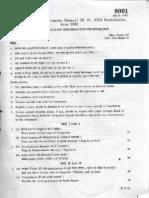 Question Paper MSc-June2005