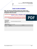 Project Scope Statement Template-1