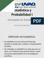 Conceptos en Estadística