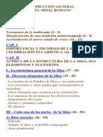 Instrucción General - Misal Romano