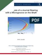 2008_amir_Msc_CFD Analysis of a Journal BearingLTU-PB-EX-08008-SE