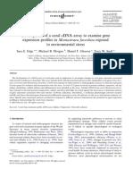 Edge - Development of a Coral CDNA Array to Examine Gene Expression Profiles in Montastraea Faveolata Exposed to Environmental Stress