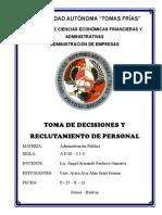 Proceso de Tomas de Decisiones