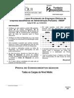 Fundacao Sousandrade 2012 Emap Nivel Medio Conhecimentos Basicos Todos Os Cargos Prova