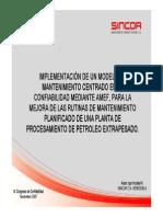 Implementacion de Un Modelo de Mantenimiento Centrado en La Confibilidad. 2007