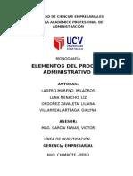 Monografia Elementos Del Proceso Administrativo II