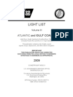 V3 -  LIGHT LIST Volume III  ATLANTIC and GULF COASTS Little River, South Carolina to Econfina River, Florida (Includes Puerto Rico and the U.S. Virgin Islands)