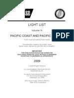 V6 -  LIGHT LIST Volume VI  PACIFIC COAST AND PACIFIC ISLANDS