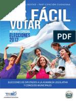 Memoria TSE Elecciones 2012