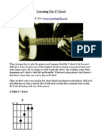 Learning the F Chord