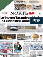 Periódico Norte edición del día 12 de septiembre de 2014