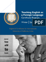 Teaching English as a Foreign Language Certificate Program