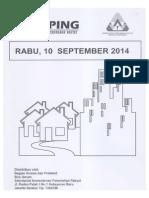 Kliping Berita Perumahan Rakyat, 10 September 2014