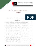 """Icono14. Nº13. Índice """"Publicidad Social"""""""