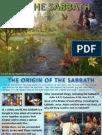 3rd Quarter 2014 Lesson 11 The Sabbath