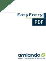 EasyEntry Mode d'Emploi