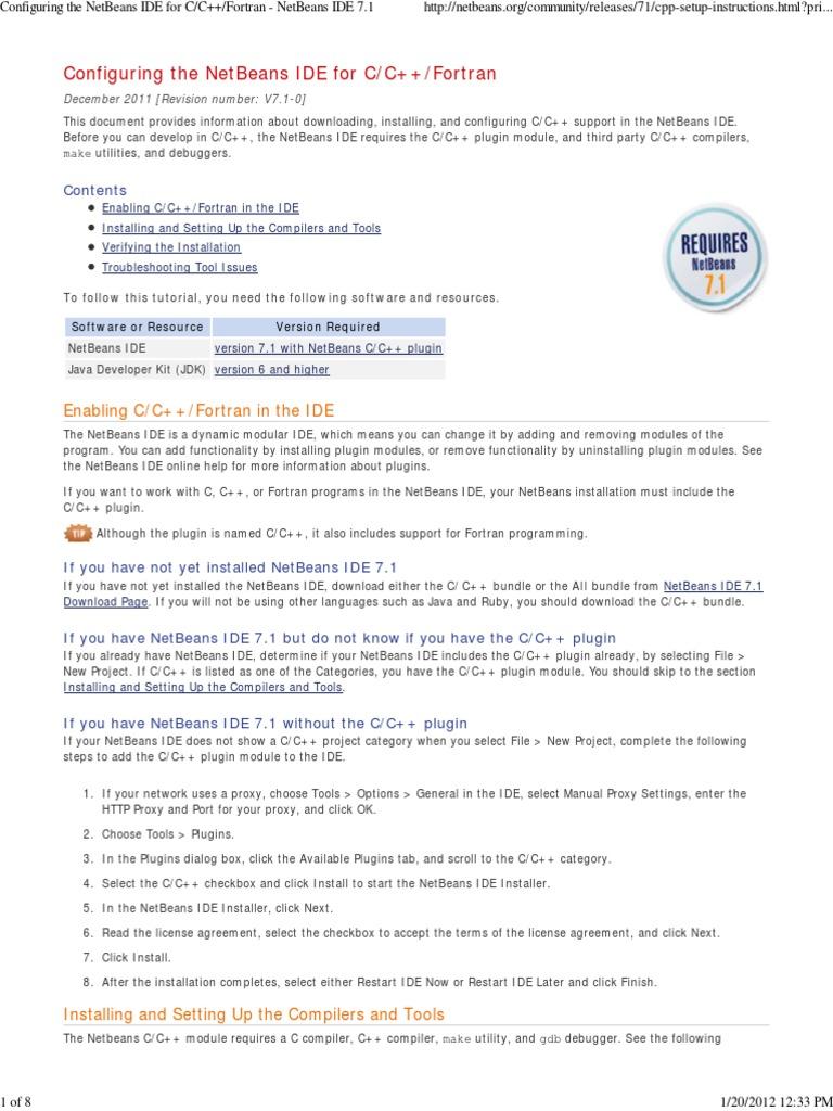 NetBeansIDETutorial-ConfiguringTheNetBeansIDEforCPP | Integrated