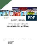 Copia de Laboratorio N°3 Hidrocarburos alifáticos COPIA