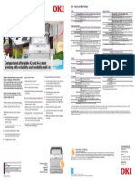 OKI C822 Specification Sheet