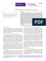 Perceptions of Empowerment in Full-Time Faculty