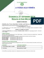 Bando Regata San Michele 2014