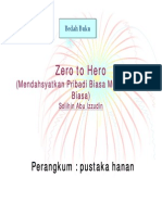 Zero to Hero, Mendahsyatkan Pribadi Biasa Menjadi Luar Biasa, Ringkasan [Solihin Abu Izzudin]