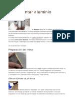 Tecnicas Pintar Aluminio