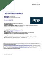 Unit of Study Outline FINC2012b
