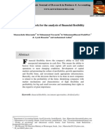 A Framework for the Analysis of Financial Flexibility