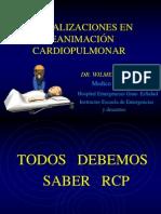 Xactualizaciones en Reanimación Cardiopulmonar