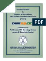 Dnb Pd Cet January 2015
