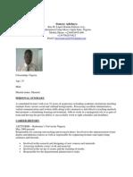 Soneye Adebayo CV