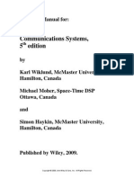 Communication Systems Solution Manual 5th Edition