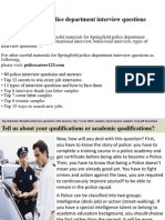 Springfield Police Department Interview Questions
