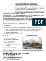 ASME Design and Construction of Lpg Storage Tank Installation