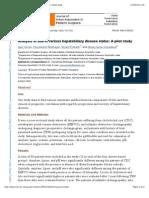 Analysis of Bile in Various Hepatobiliary Disease States