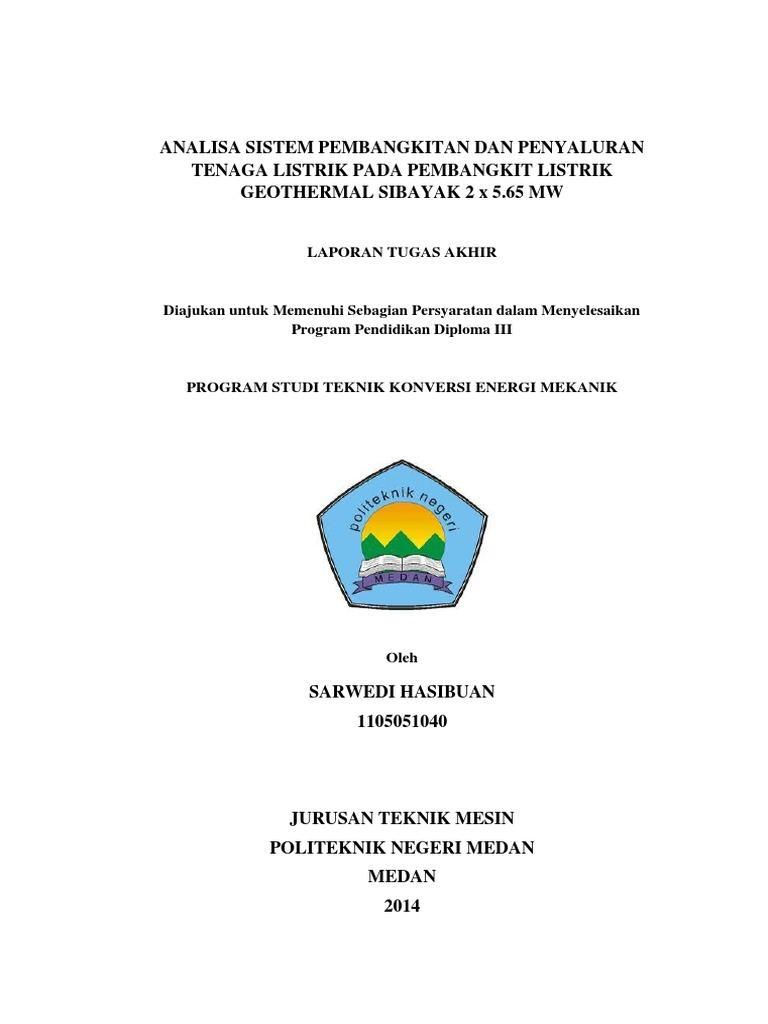 Analisa Sistem Pembangkitan Dan Penyaluran Tenaga Listrik Pada