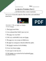 Adjectives Circling P 1 Beginner