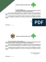 BSP Med Cert and Parental Consent