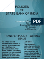 Policies of Sbi