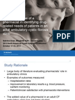The Added Value of a Pharmacist in Identifying Drug-related Needs of Cystic Fibrosis Patients in a Large Adult Clinic