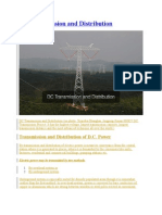 DC Transmission and Distribution