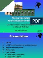 Workshop Dakar UNCDF LDU
