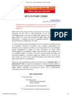 Phrasal Verbs - Verbos Preposicionais - Inglês _ Português